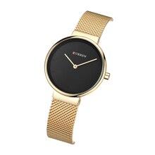 цена на CURREN Ladies Watch 2019 Luxury Women's Watch Modern Fashion Mesh Quartz Wristwatch Water Resistant Black Dial Bayan Kol Saati