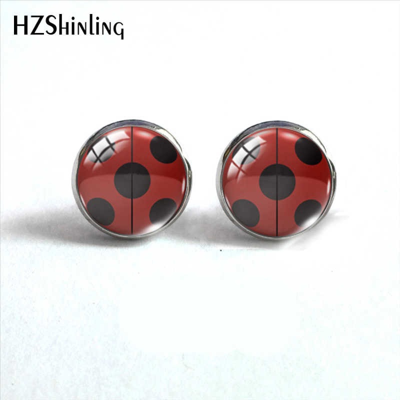 2019 New Arrival Ladybug Insect Stainless Steel Plated Earrings Jewelry Cute Ladybug Stud Earrings Hand Craft Jewelry Gifts
