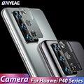 Защитная пленка для камеры Huawei P40 Pro, закаленное стекло, пленка, металлическая задняя линза, защитное кольцо, чехол для Huawei P40 Pro P40pro, крышка