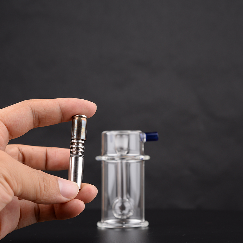 """Mini Bong – Bubbler water filter with stainless sdapter for DynaVap THE """"M"""" 2020 and 2021 edition with 10mm tapered mouthpiece 2"""