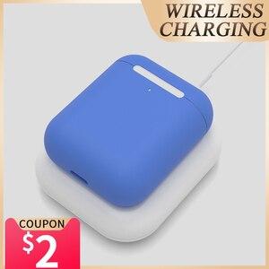 Image 1 - Musubo AirPods 2 Chargeur Sans Fil Pour Apple AirPods Pro Chargeur Rapide QI Sans Fil De Charge Pour iPhone 11 Pro Max Xs XR X 8 Plus