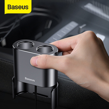 Baseus רכב ספליטר מצית USB הכפול מטען לרכב 3.1A מהיר מטען מתכת רכב מצית עבור iPhone Xiaomi