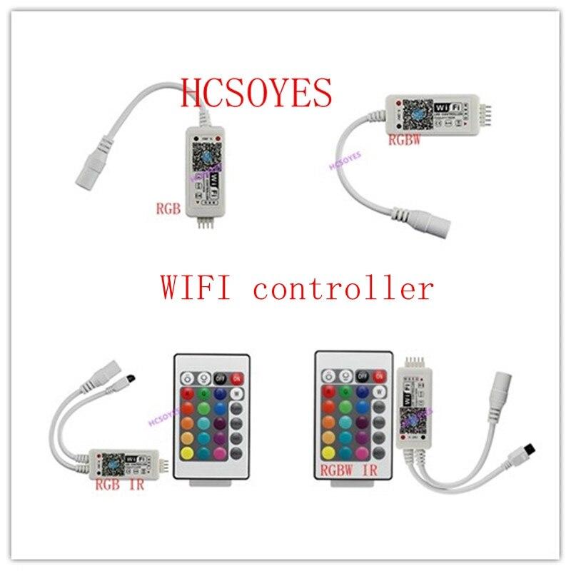 16 millionen farben steuern musik Wifi RGB/RGBW led controller smartphone und timer modus magie hause mini wifi led rgb controller