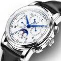 Мужские карнавальные часы автоматические механические мужские часы лучший бренд класса люкс Moon phase Мужские s наручные часы relogio masculino