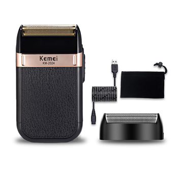 Kemei Electric Shaver for Men Twin Blade Waterproof Reciprocating Cordless Razor USB Rechargeable Shaving Machine Barber Trimmer kemei electric shaver usb rechargeable electric beard trimmer shaving machine for men twin blade reciprocating cordless razor