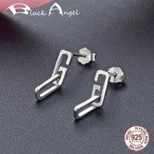 925 Sterling Silver Alphabet G Drop Earrings for Women Fine Jewelry Simple Geometry Dangle Earrings natural stone 925 sterling silver drop earrings fine jewelry earrings for women aj