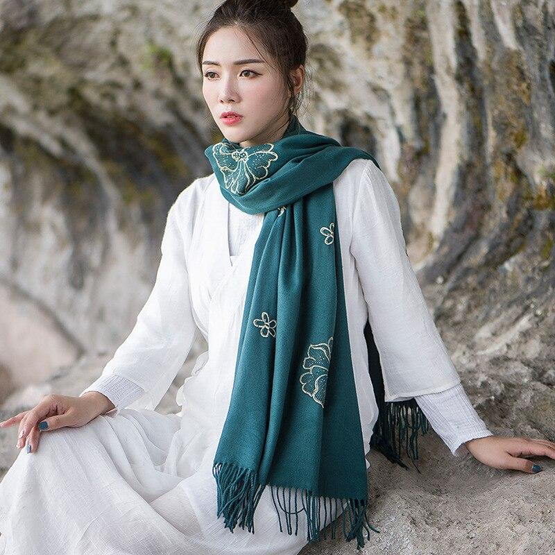 Fashion Winter Long Korean Style Soft Scarf Air Conditioning Bufanda Cashmere Shawl Dual-Use Luxury Scarf Women Designers Шарф
