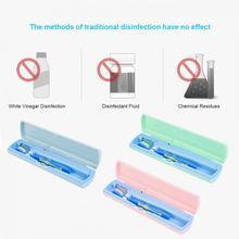 Портативный UV стерилизатор зубной щетки коробка USB / зарядки аккумулятора ультрафиолетовый свет дезинфекции стерилизации очистки футляр для хранения