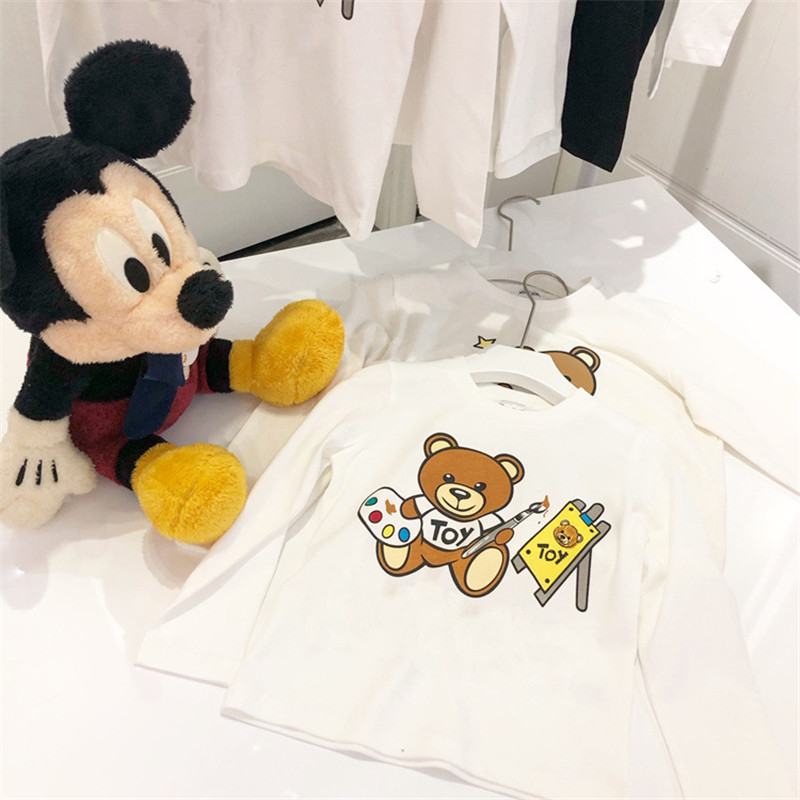 Kids T Shirts For Girls 2019 autumn Cartoon Print Long Sleeve Top Tees <font><b>Baby</b></font> Cotton <font><b>Tshirts</b></font> Boys Girls Boys T Shirts image
