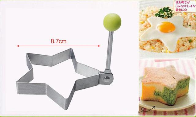 1 pcs Stainless steel form for frying eggs tools omelette mould device egg/pancake ring egg shaped kitchen appliances 2