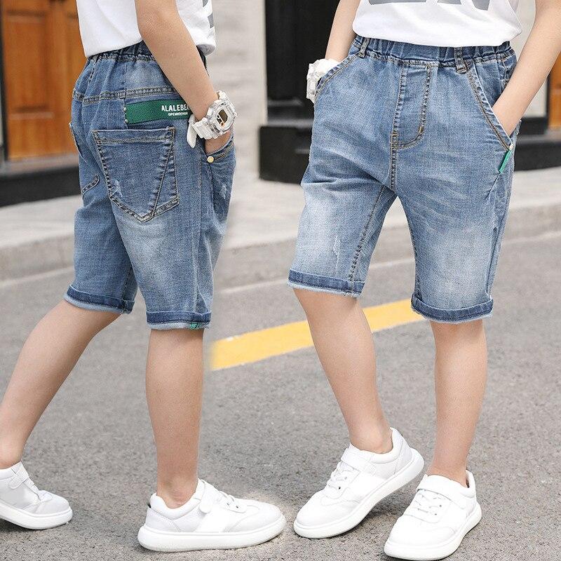 IENENS Kids Boys Summer Jeans Cloose Capris Children Denim Mid Pants Baby  Boy Stretch Knee Length Cowboy Trousers Clothing|Shorts| - AliExpress
