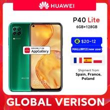 Глобальная версия Huawei P40 lite смартфон 6 ГБ 128 ГБ 48 МП AI камеры 16 МП фронтальная камера 6,4 ''экран Kirin 810