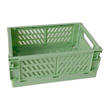Collapsible Crate Plastic Folding Storage Box Basket Utility Cosmetic Container L41E