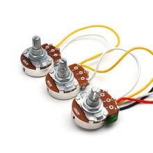 10 шт., предварительно смонтированный монтажный жгут JB Bass 250K Pots 2 громкости 1 тон для джазовых басов, детали для электрогитары