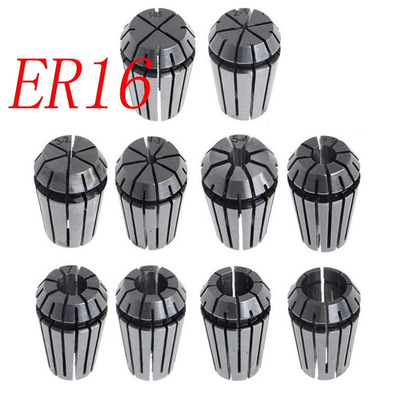 1pcs ER16 1-10MM  1 2 3 4 5 6 7 8 9 10Spring Collet Set For CNC Engraving Machine Lathe Mill Tool