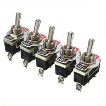 5Pcs 15A 250V SPST Control 2Pins 2 Terminal ON/OFF Toggle Rocker Switch Waterproof Boot Car Boat Auto Kit Heavy Duty