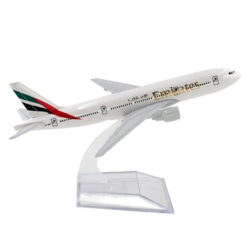 1/400 Scale Alloy Aircraft Boeing 777 Emirates 16cm Alloy Plane B777 Model Toys Children Kids Gift for Collection