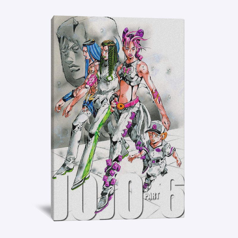 JOJO Part 6 Stone Ocean anime wall Art canvas decoration poster prints For living room home bedroom decor painting image