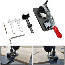 35mm Hinge Hole Drilling Guide Locator Aluminum Alloy Hole Opener Template Door Cabinets DIY Tool For Woodworking tools