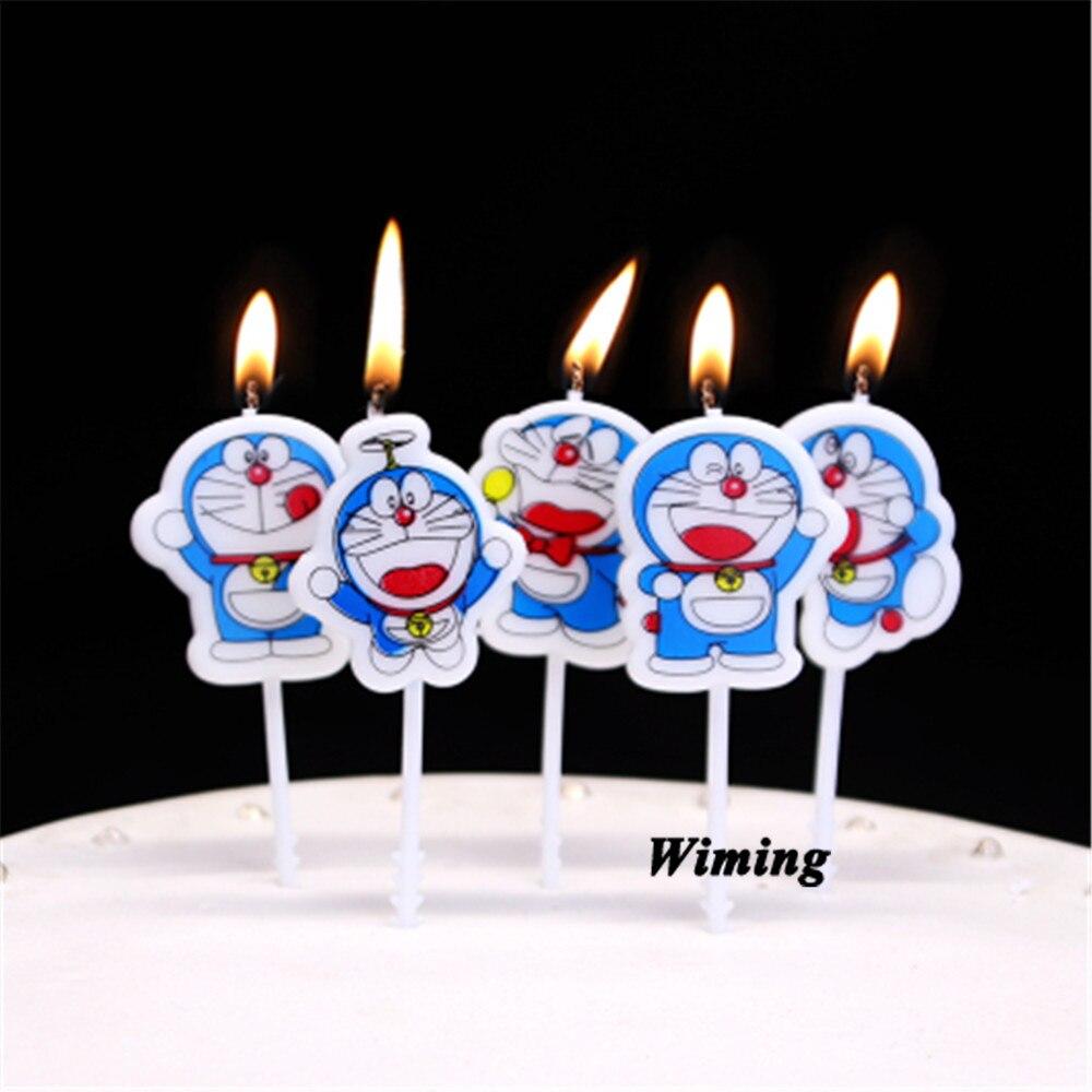 Vela decoración cumpleaños fiesta suministros pastel decoración vela niñas bebé niños fiesta gato doraemon vela de cumpleaños Molde de silicona para Chocolate, forma de barra, patrón de escala de pescado, forma de raya, decoración, hoja de transferencia, molde para torta, decotación superior