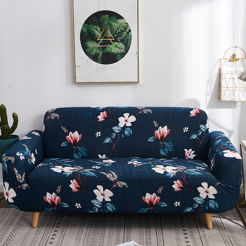 Floral Printed Sofa Cover Spandex For Living Room Home Decoration Furniture Protector Stretch Elastic Slipcover Sofa Towel