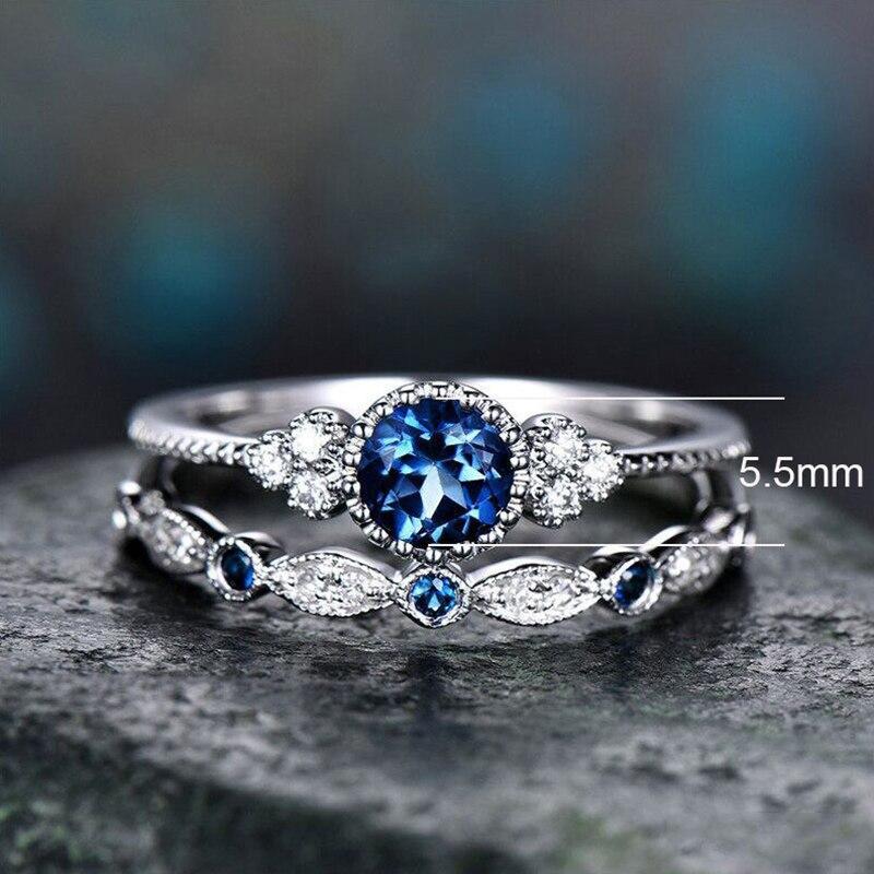 Комплект колец с фианитом для женщин и девушек, Свадебные обручальные кольца с кубическим цирконием, модное женское кольцо с кристаллами, П...