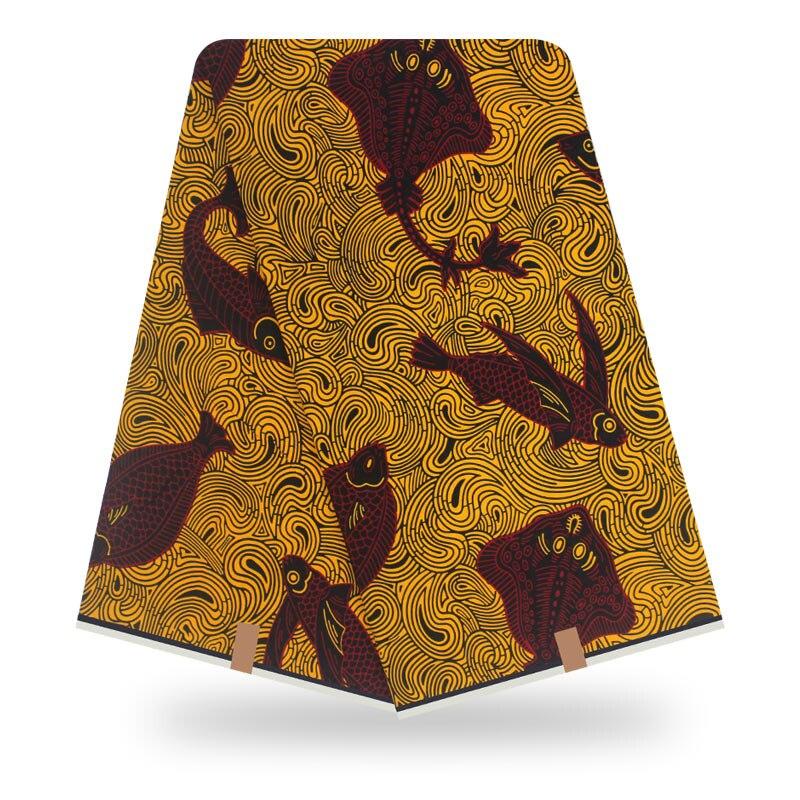 Ankara Fabric Wax African Fabric 100% Cotton High Quality African Wax Prints Fabric 2019 Soft Wax Fabric 6yard For Dress
