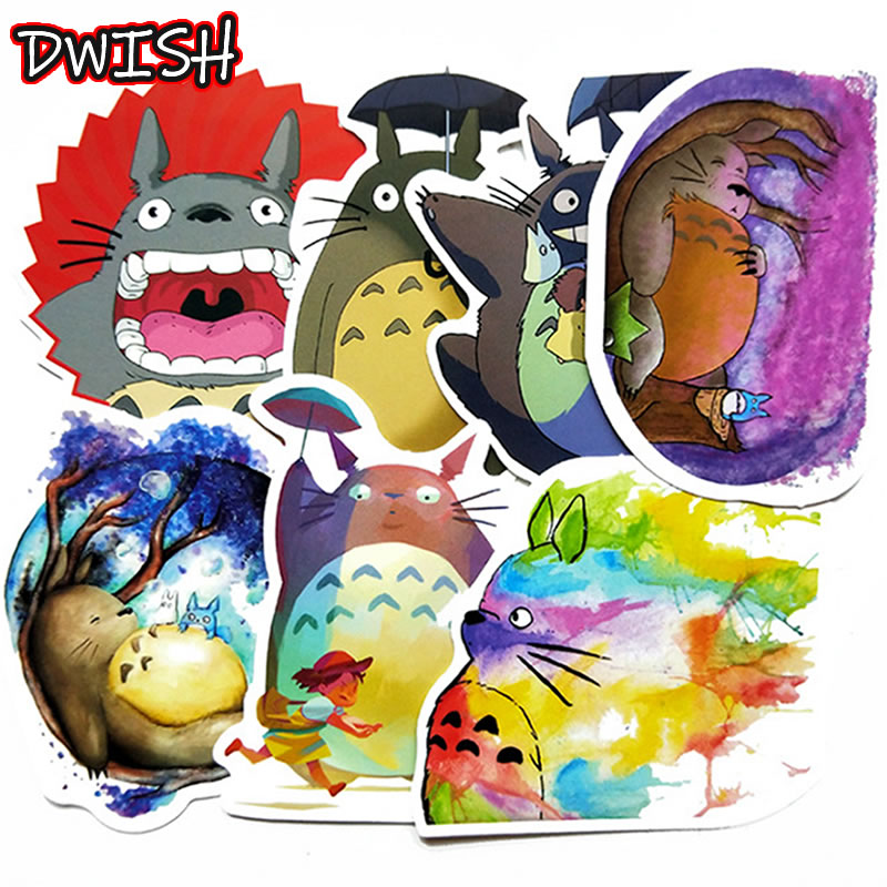 5pcs Pack Anime Spirited Away Totoro Stickers Waterproof PVC Guitar Suitcase Motorcycle Skateboard Vsco Girl Sticker Kids Toys
