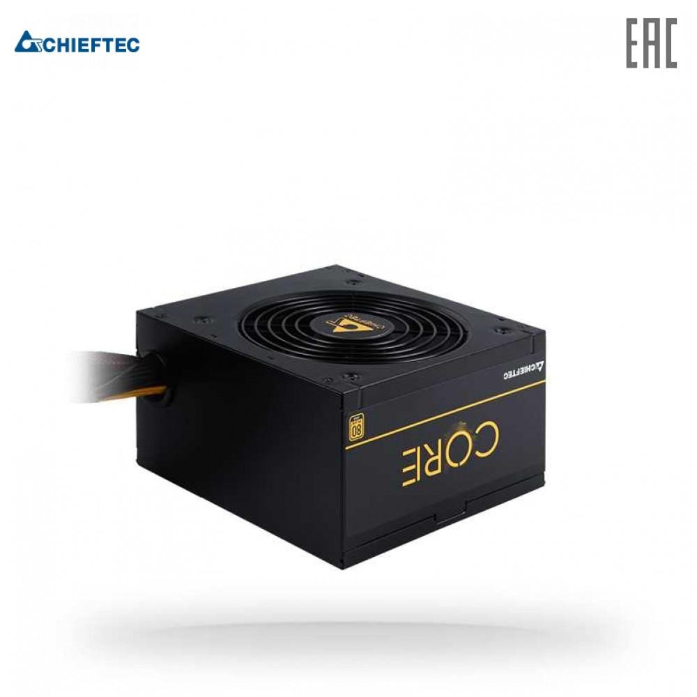 Блок питания Chieftec BBS-500S CORE 500W, ATX 12V 2.3 PSU,W/12cm Fan,80 plus Gold, BBS-500S Box