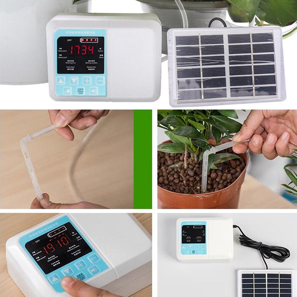 Automatische Bewässerung Gerät Intelligente Garten Topfpflanze Tropf Bewässerung Wasserpumpe Bewässerung Zubehör Solar Energie Lade