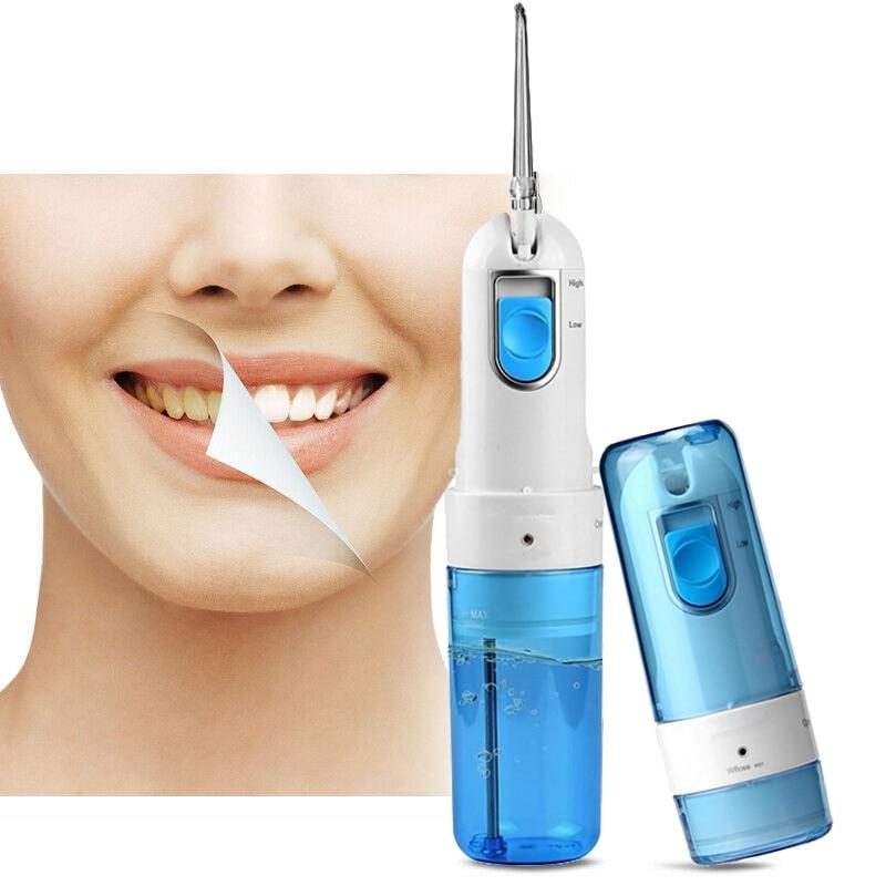 Ev Aletleri'ten Ağız Duşları'de Diş ağız duşu için diş temizleme elektrikli su jeti taşınabilir diş duşu gargara 5 memeleri ağız burun Irrigator title=
