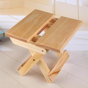 Image 4 - Wooden Folding Stool Household Simple Folding Stool Portable Lightweight Folding Stool For Fishing Camping Outdoor Travel Pinic