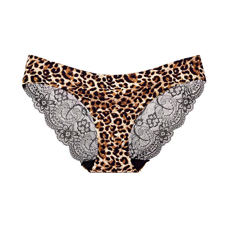Wanita Pakaian Dalam Wanita Celana Dalam Seksi Renda Plus Ukuran Celana Dalam Transparan Low-Rise Katun Celana Intimate Baru 1/2 Pcs