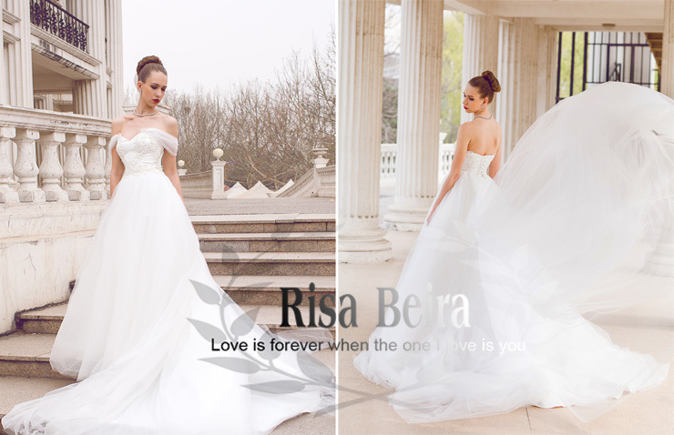 Free Shipping A-line Tulle Appliques Wedding Dress 2015 Hot Sale Sweetangel Beading Vestido De Noiva Casamento Long Bridal Gown