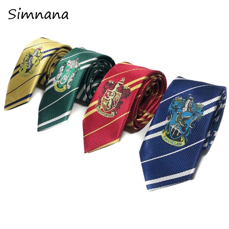 Harry Potter Tie Gryffindor//Ravenclaw//Slytherin//Hufflepuff Necktie Costume Ties