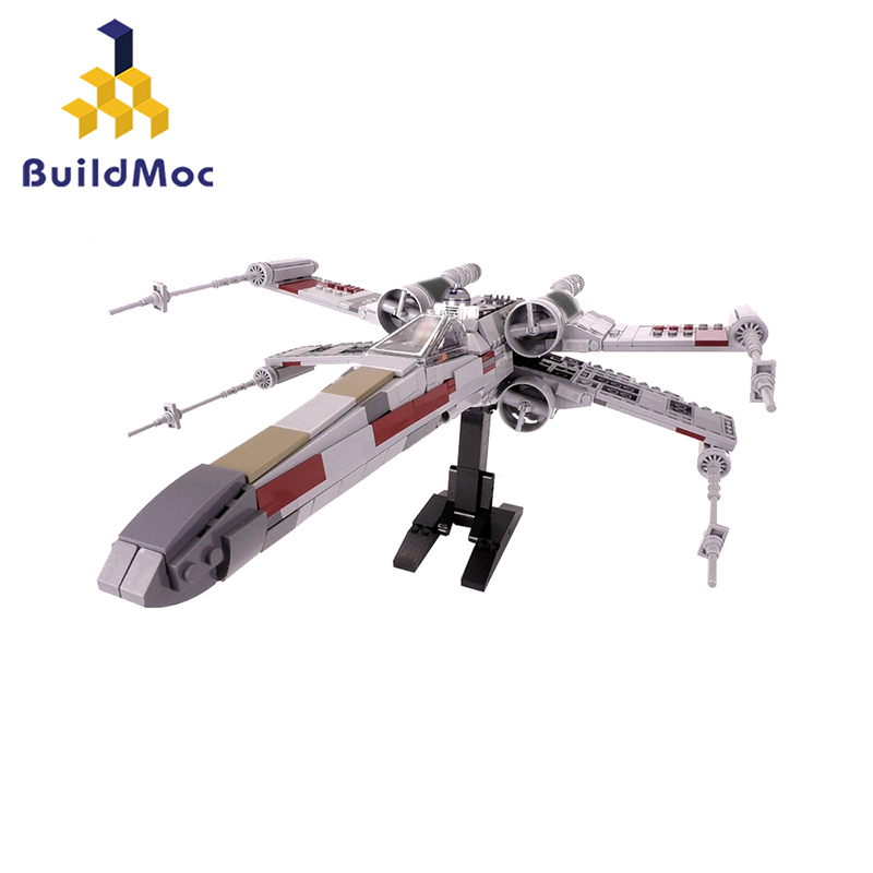 Buildmoc Mini Star Tie Fighter X Wing MicroFighters Wars AT Walker Building Blocks StarWars Lepining Toys 05053 <font><b>10195</b></font> image
