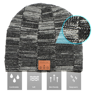 Image 5 - Moda música malha fone de ouvido chapéu chamada música escuta torção cheque mais veludo inverno quente fone de ouvido chapéu