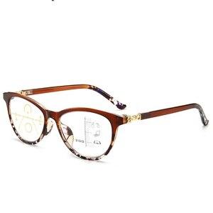 Image 3 - LONSY عالية الجودة المرأة التقدمية نظارات للقراءة مكافحة الأزرق عدسات إضاءة نظارات طويل النظر قصر النظر نظارات القراء