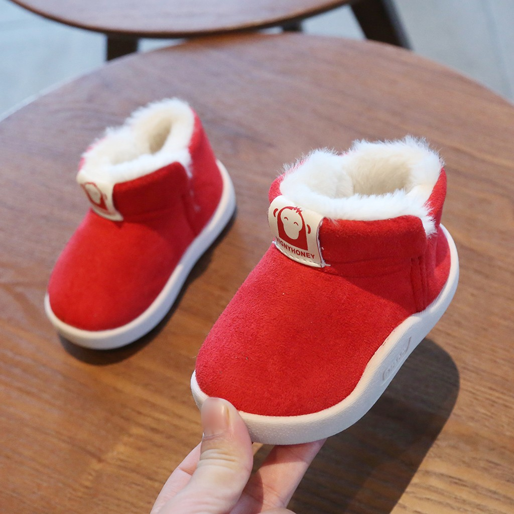Solid Color Winter Warm Snow Boots 3
