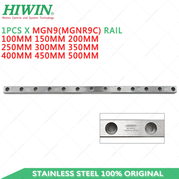 HIWIN MGN9 Linear Guide Rail MGNR9C Rail 9mm linear guideway 150mm 200mm 250mm 300mm 350mm 400mm 500mm Customized length mjunit mj50 long guideway system linear motion with 300mm stroke length linear motion actuators