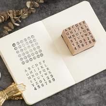 Handwriting Vintage Style Diy Craft Seal Wooden Rubber Alphabet Number Stamps Stamper Set