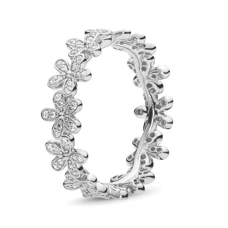 Кольцо на палец в форме сердечко серебряного цвета для женщин, европейская оригинальная Корона, изящные кольца на палец, свадебные украшения, 50 стилей, Прямая поставка - Цвет основного камня: Rings 005
