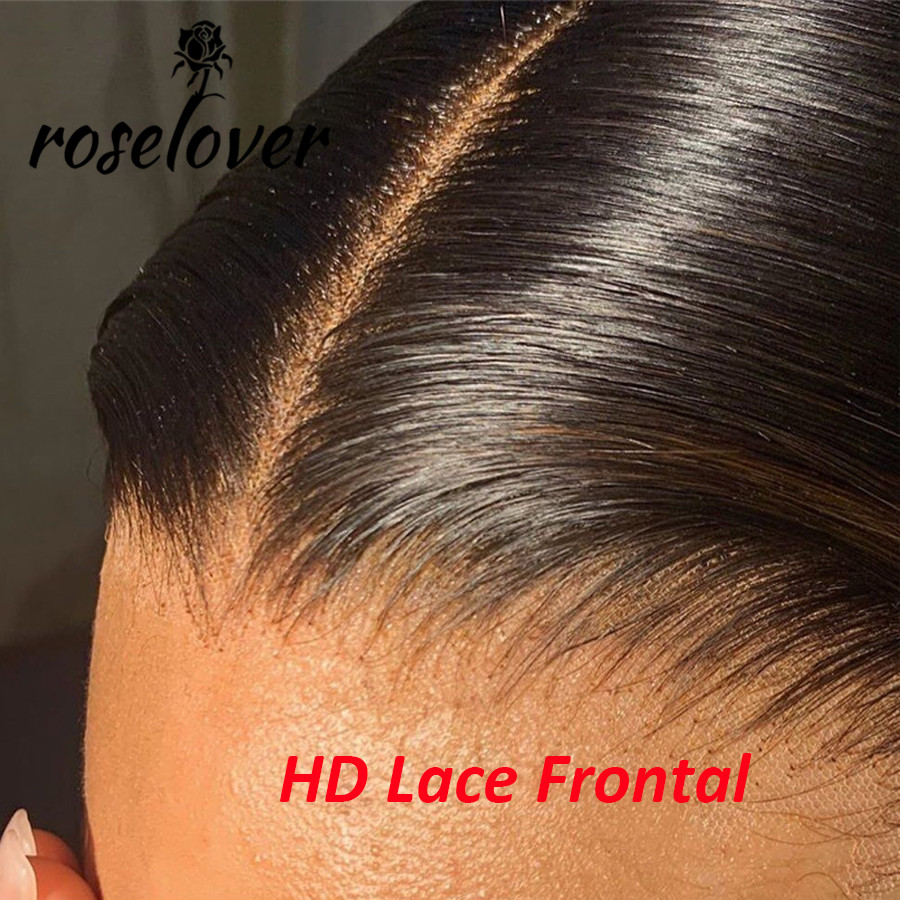 Pre Plucked 13x4 Ear To Ear Invisible HD Lace Frontal Closure Body Wave Transparent Human Hair Lace Frontals Brazilian Remy Hair