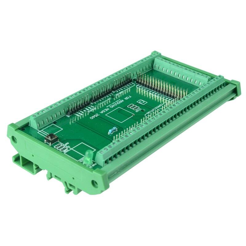 Módulo do adaptador do bloco terminal do parafuso da montagem do trilho do ruído, para MEGA-2560 r3.