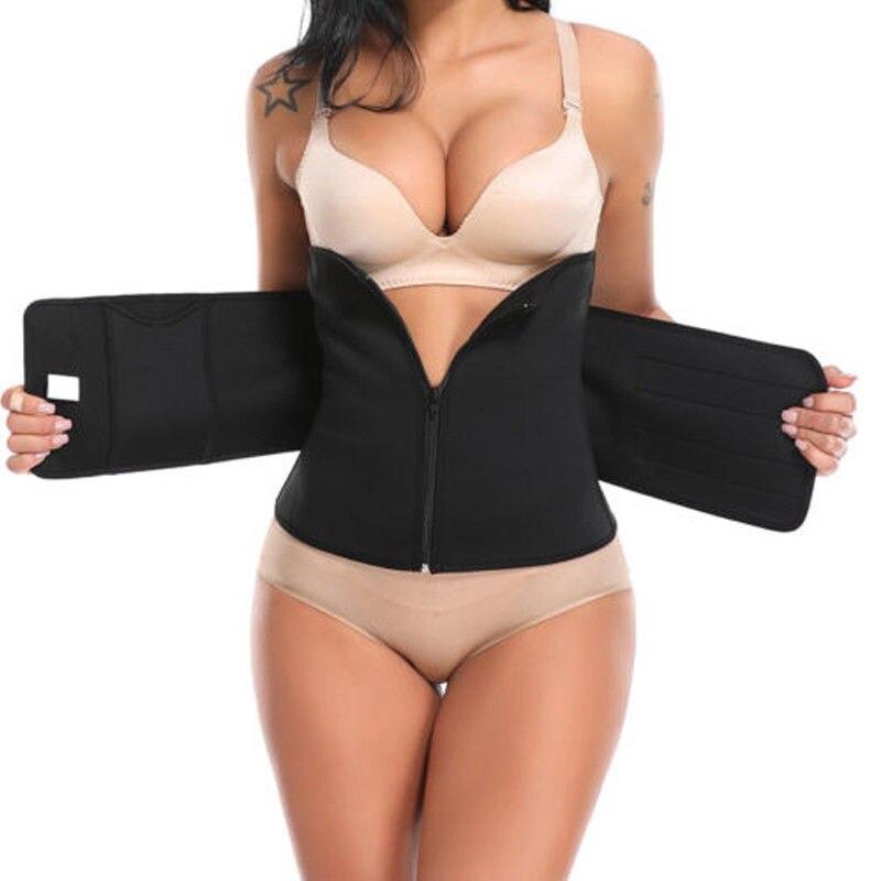 Hot Sale Men Women Tummy Waist Trainer Cincher Sweat Belt Trainer Hot Body Shaper Slim Bodycon Belt Waist Shapewear Plus Size
