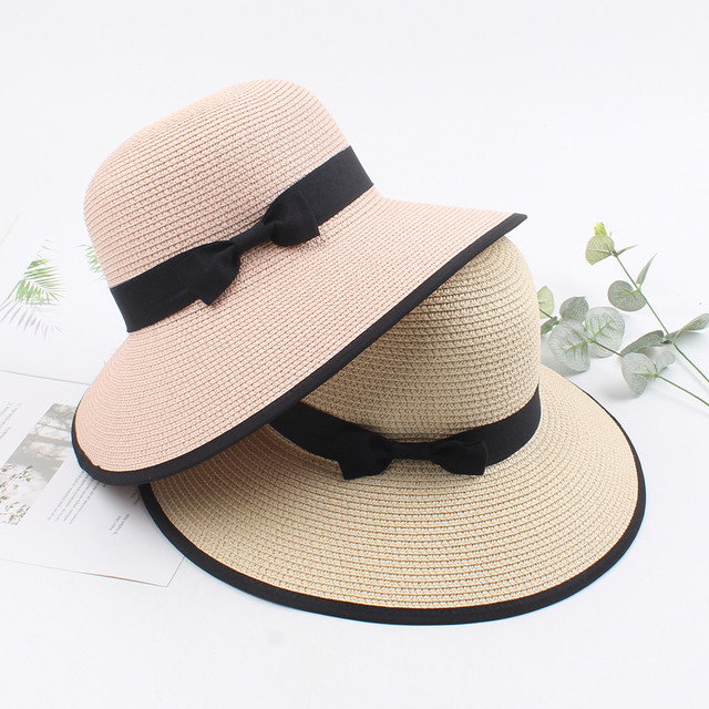 Womens Hat New Product Straw caps Foldable Roll Up Floppy Beach Hats Outdoors On Vacation Sunscreen Will Eaves Sun Hat