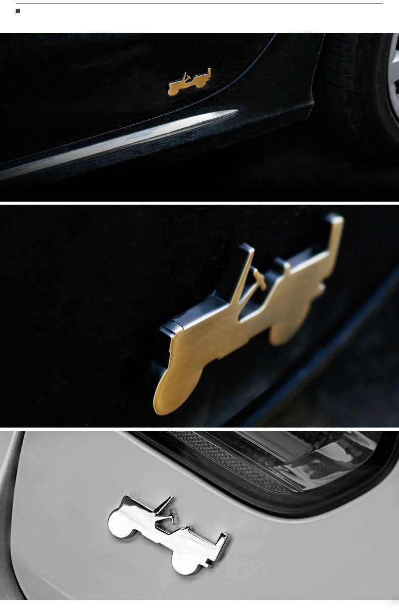 Autocollants en métal pour Jeep   Logo de voiture, accessoires d'emblème de style pour Jeep boussole Wrangler Grand Cherokee Liberty Renegade