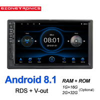 7 Android8.1 Car radio Multimedia Video Player Mirror Link Universal Wifi Bluetooth auto Stereo GPS RDS OBD2 Small panel 172x96