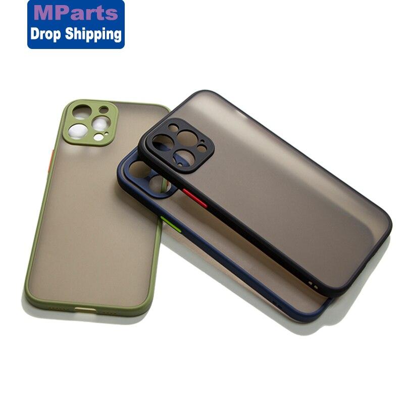 Матовый чехол M-Parts для телефона, защитный чехол для iPhone 12 Pro Max 11Pro XS XR 8 7 6 6S Plus, задняя крышка для iPhone 12