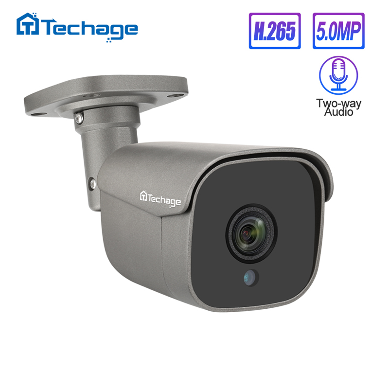 H.265 5MP HD 48V POE IP Camera Human Motion Detect Two Way Audio AI Camera Outdoor Waterproof ONVIF Video Security Surveillance